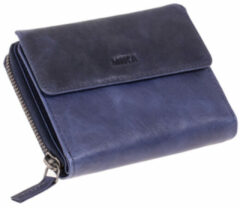 Transparante Juscha JU-42169 Portefeuille Mika Blauw RFID Dame 15x12,5x4cm