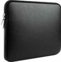 """Tech Supplies   Luxe Kunstlederen Laptoptas Voor de Apple Macbook Air / Pro (Retina) 13 Inch - 13.3"""" - Kunstleer - Zwart"""