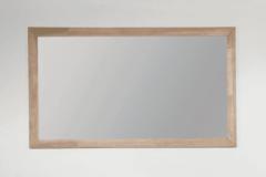 Grijze Saniclass Natural Wood spiegel 120x70x1.8cm rechthoek vingerlas zonder verlichting Grey Oak 30080