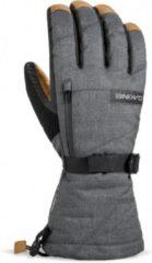Grijze Dakine Leather Titan handschoenen carbon
