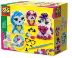 Fluffy dieren SES - Knutselset Textiel SES Creative Hobby