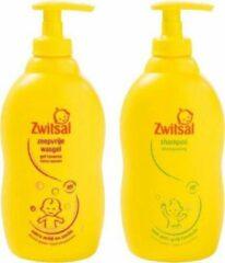 Apple Zwitsal Zeepvrije Wasgel 400 ML Pomp & Zwitsal Anti-Prik Shampoo 400 ML Pomp