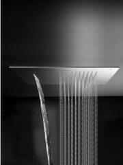 """Roestvrijstalen Hotbath Archie - inbouw plafonddouche - vierkant - 500 mm - met 2 aansluitingen 1/2"""" inclusief inbouwframe - RVS 316 - AR142IX"""