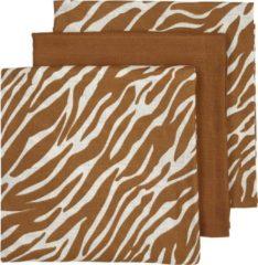 Bruine Meyco hydrofiele swaddles - set van 2 zebra-Uni camel