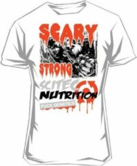 Scitec Nutrition Scitec - Tee - T-Shirt - korte mouw - Scary Strong - XL - Wit