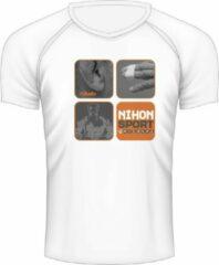 Sneldrogend sportshirt 'Dit is #judo' Nihon | wit - Product Kleur: Wit / Product Maat: XL