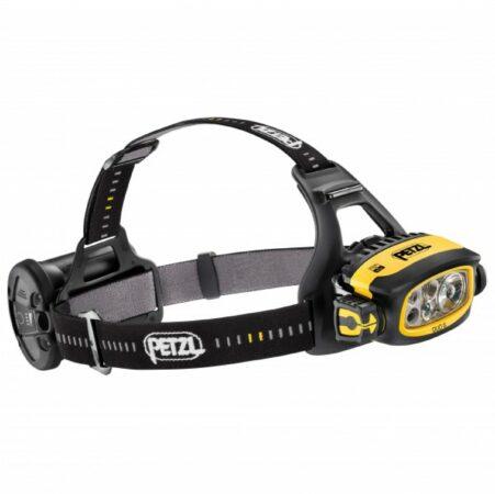 Afbeelding van Zwarte Petzl Duo S hoofdlamp met accu en zeer hoge lichtopbrengst