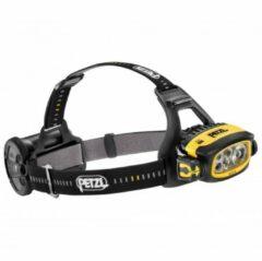 Zwarte Petzl Duo S hoofdlamp met accu en zeer hoge lichtopbrengst