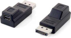 Zwarte Equip 118916 DisplayPort Mini DisplayPort Zwart kabeladapter/verloopstukje