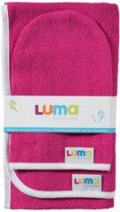 Paarse LUMA Babycare Luma - Commodedoek en Washand - Magenta Pink