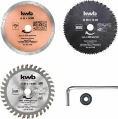 KWB Mini cirkelzaagbladen-set (3-delig)