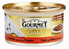 Gourmet Gold Les Cassolettes Duo van vlees in tomatensaus Per stuk