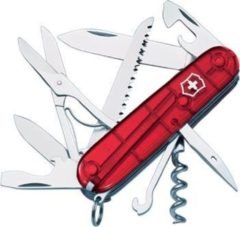 Rode Victorinox Zakmes swissarmy huntsman transparant rood 15 functies