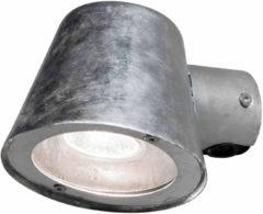 Konstsmide - Buitenlamp Trieste 230V wandarmatuur downspot 11.5cm, GU10 max 35W (niet meegeleverd), gegalvaniseerd staal