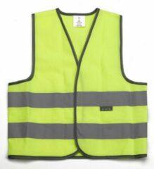 Wowow Mesh Reflectiehesje Fietsshirt - Maat L - Unisex - geel/zilver