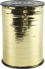 PacklinQ Cadeaulint. goud metallic. B: 10 mm. glossy. 250 m/ 1 rol