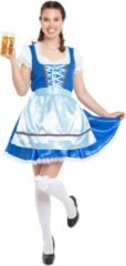 Folat Party Products Oktoberfest Jurk Blauw Maat XXL (44)