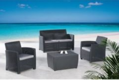 BEST Loungeset »Bali«, 8-tlg., 2er-Sofa, 2 Sessel, Tisch 80x60 cm, Polyrattan