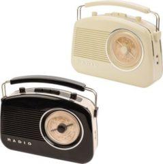 KOENIG König Retro-Radio mit drahtloser Bluetooth-Technologie in verschiedenen Farben Farbe: Elfenbein