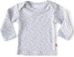 Little Label - baby - T-shirt - wit, zwarte stipjes - maat 68 - bio-katoen