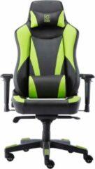 Game Hero x LC-Power Gaming Stoel - Bureaustoel - Verstelbare Armleuningen - Stoel Met Hoofdkussen - Game Stoel - Zwart/Groen