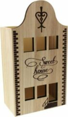 Neutral Verpakking huisje hout sweet house set van 2