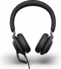 Jabra Evolve2 40 Headset USB-C Kabelgebonden Over Ear Zwart
