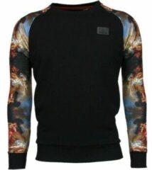 Zwarte Sweaters Local Fanatic Mythologie Arm Motief - Sweater