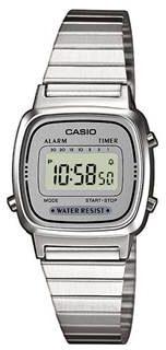 Afbeelding van Zilveren Casio Collection LA670WEA-7EF - Horloge - Staal - Zilverkleurig - Ø 25 mm