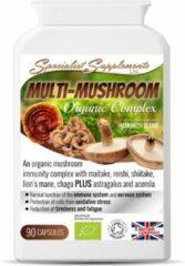 SS Ltd Multi-Mushroom Organic Complex v1 (MMB90) caps 90 capsules: Multi-mushroom biologische blend capsules