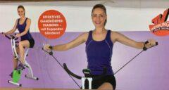Vitalmaxx Fitness Bike hometrainer met twee expander banden