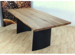 Baumkantentisch - Massivholz 'Denver' Möbel-Direkt-Online wildeiche geölt/schwarz