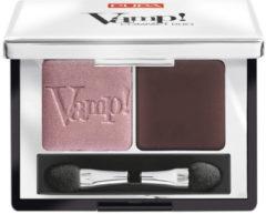Bruine Pupa milano Pupa Vamp! Compact Duo Eyeshadow 002 Pink Earth