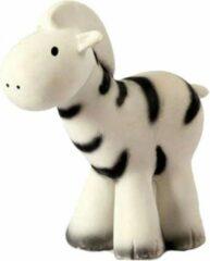 Witte Tikiri Badspeelgoed - Zebra - Rammelaar - Bijtspeeltje met belletje