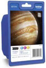 Brother LC1240 - Inktcartridge / Geel / Paars / Blauw