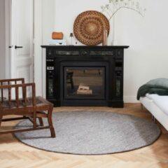EVA Interior Rond vloerkleed wollen Antraciet - Cobble Stone-[Afmetingen:200 Ø]-[Afmetingen:200 Ø]