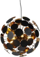Trio Leuchten Design Pendelleuchte schwarz mit gold 6-flammig - Cerchio