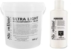 [Combo] Showtime Ultralight Blondeerpoeder (500gram) + Showtime Oxidant Creme Peroxide 9% - (1000ml)