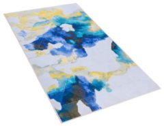 Beliani CEYHAN Vloerkleed Meerkleurig Polyester 80 x 150 cm