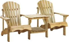Woodvision Loveseat Canadian tête-a-tête deckchair - Vuren - 90x176x90 cm