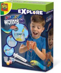SES Creative regenboog wormen 20 x 15 cm Explore