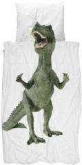 Groene Snurk Dinosaurus Rex dekbedovertrekset van katoen 160TC - inclusief kussenslopen
