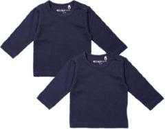 Dirkje Meisjes Shirts Lange Mouwen (2stuks) Blauw - Maat 56