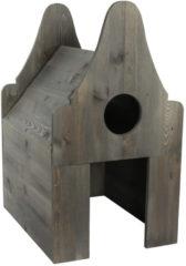 Homestyle Houten Kattentoilet Huis - Kattenbakaccessoires - 58.5x44.8x80 cm Grijs Bouwpakket
