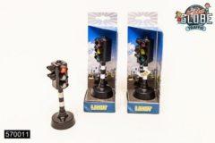 Zwarte Kids Globe Stoplicht met licht en geluid - Speelfiguur: 14 cm