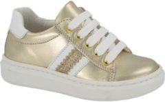 Gele Cupcake Couture Kinderen Gouden leren sneaker metallic - Maat 25