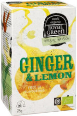 Royal Green Royal groen Ginger & lemon 16 Stuks
