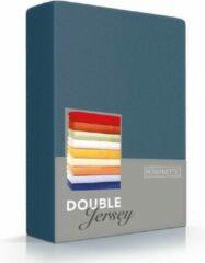 Blauwgroene Romanette Double jersey Teal 100% katoen 1-persoons 80/90/100x200/210/220