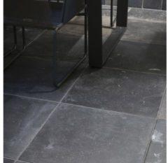 Antraciet-grijze Vloertegel Kronos Carriere 80x80cm Zwart Anticato