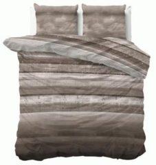 Sleeptime Marcus - Dekbedovertrek - Eenpersoons - 140x200/220 + 1 kussensloop 60x70 - Taupe